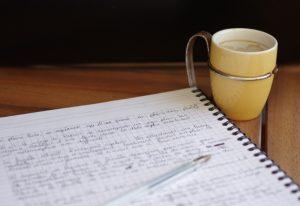 Mon manuscrit et du café !