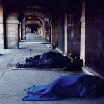 Personnes sans domicile à Paris.